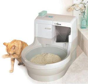 猫用の水洗トイレ「CatGenie」